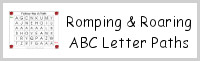 Romping & Roaring ABC Letter Paths
