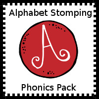 Free Alphabet Stomping Phonics A Pack - 30 pages of printables - 3Dinosaurs.com