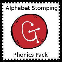 Alphabet Stomping Phonics G PreK-Kinder Pack - 3Dinosaurs.com