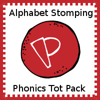 Free Alphabet Stomping P Tot-Preschool Pack - 20 pages of activities - 3Dinosaurs.com