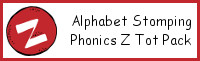 Alphabet Stomping Phonics Z Pack - Tot-Preschool