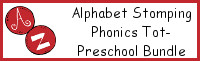 Alphabet Stomping Phonics Packs Tot-Preschool Bundle