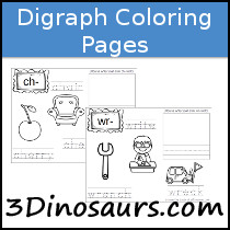 Digraphs Coloring Pages - 3Dinosars.com