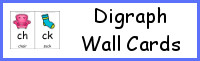 Digraph Wall Cards - 3Dinosaurs.com