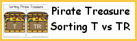 Pirate Treasure Sorting T vs TR