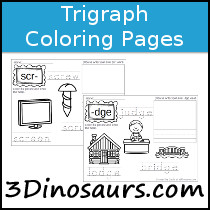 Trigraph Coloring Pages - 3Dinosaurs.com