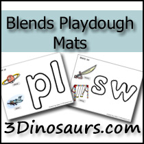 Blends Playdough Mats