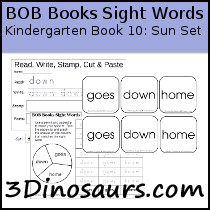 BOB Sight Words Kindergarten Words Book 10: Sun Sets