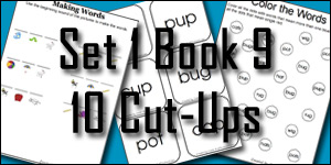 BOB Books Set 1 Book 9: 10 Cut-Ups