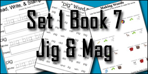 Early Learning Printables: BOB Books Set 1 Book 7 Jig & Mag