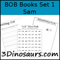BOB Books Printables: Set 1 Book 2 Sam