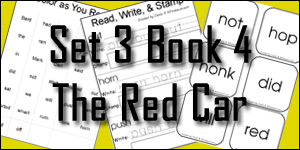BOB Books Set 3 Book 4: The Red Car