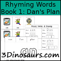 BOB Books Rhyming Words: Book 1 - Dan's Plan - 3Dinosaurs.com