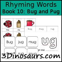 BOB Books Rhyming Words: Book 10: Bug and Pug  - 3Dinosaurs.com