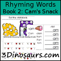 BOB Books Rhyming Words Book 2: Cam's Snack
