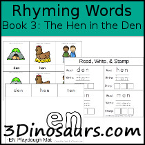 BOB Books Rhyming Words: Book 3 - The Hen in the Den - 3Dinosaurs.com