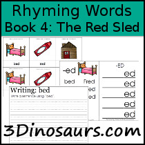 BOB Books Rhyming Words: Book 4 The Red Sled - 3Dinosaurs.com