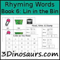 BOB Books Rhyming Words: Book 6: Lin in the Bin - 3Dinosaurs.com