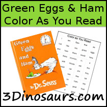 Color As You Read: Green Eggs & Ham - 3Dinosaurs.com