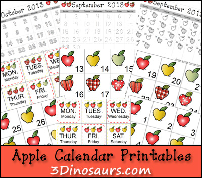 Apple Calendar Set