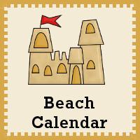 Free 2015 Beach Calendar Set - 3Dinosaurs.com