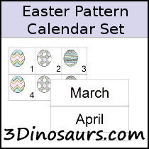 Easter Calendar Pattern Set