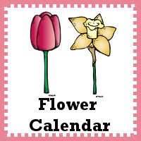 Free Flower Calendar Cards - 3Dinosaurs.com