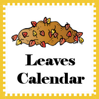 Leaves Calendar Cards