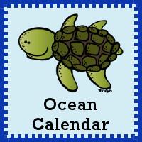 Free Ocean Calendar Set - 3Dinosaurs.com