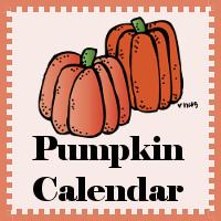 Free Pumpkin Calendar Set!