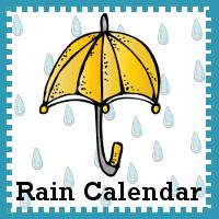 Free Rain Day Calendar - 3Dinosaurs.com