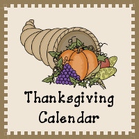 Thanksgiving Calendar Printables