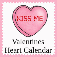Free Valentines Heart Calendar Cards