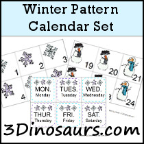 Winter Calendar Pattern Set