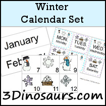 Winter Calendar Set