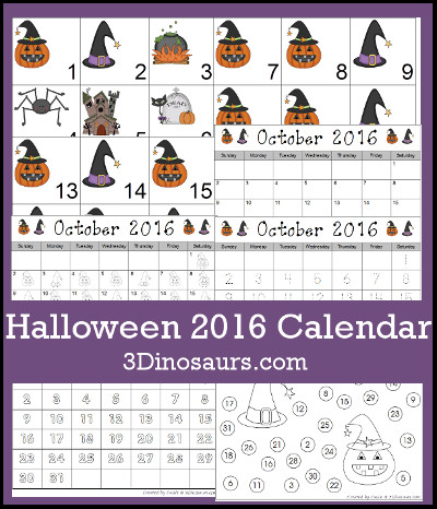 Pumpkin  Calendar Set