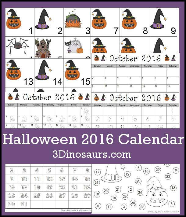 Halloween Calendar Printables