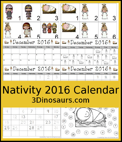 Nativity 2016 Calendar Set