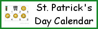 St. Patrick's Day Calendar Set