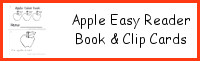 Apple Color Easy Reader Book & Clip Cards