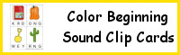 Color Beginning Sound Clip Cards