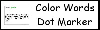Color Words Dot Marker