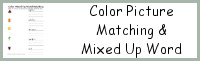 Color Picture Matching & Mixed Up Word