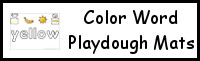 Color Word Playdough Mats