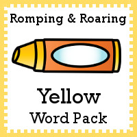 Free Romping & Roaring Color Yellow Word Pack - 8 pages of activities - 3Dinosaurs.com