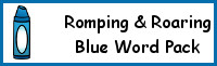 Romping & Roaring Color Word Blue Pack