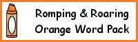 Romping & Roaring Color Word Orange Pack