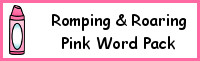 Romping & Roaring Color Word Pink Pack