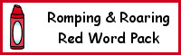 Romping & Roaring Color Word Red Pack