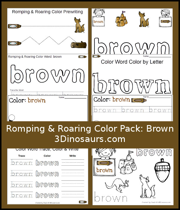 Free Romping & Roaring Color Pack Brown
